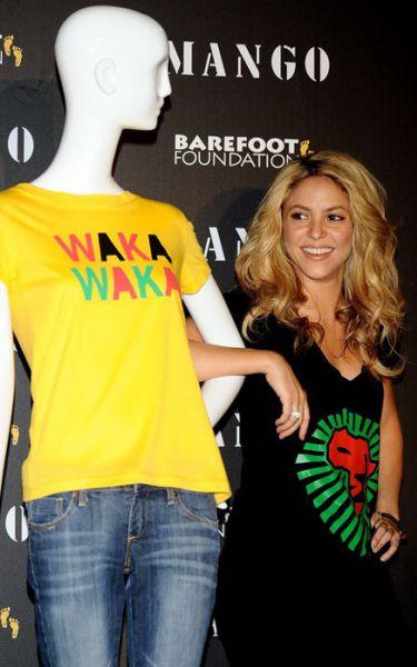 Шакира представила благотворительные майки для Mango