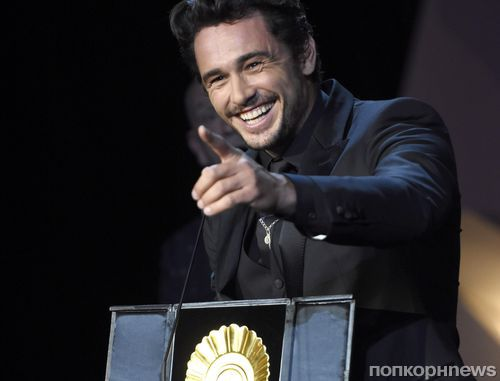 Фото: Джеймс Франко празднует победу на кинофестивале в Сан-Себастьяне