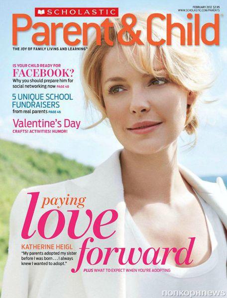 Кэтрин Хайгл в журнале Parent & Child. Февраль 2012