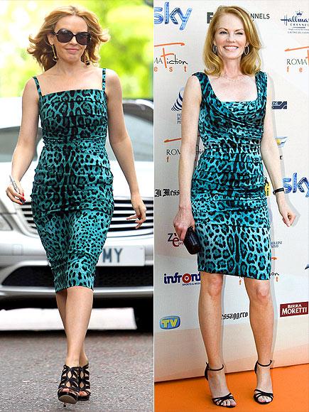 Fashion battle: Кайли Миноуг и Мардж Хелгенбергер