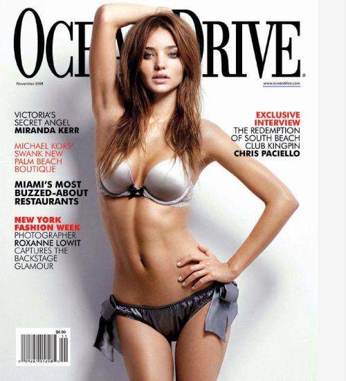 Миранда Керр в журнале Ocean Drive. Ноябрь 2008
