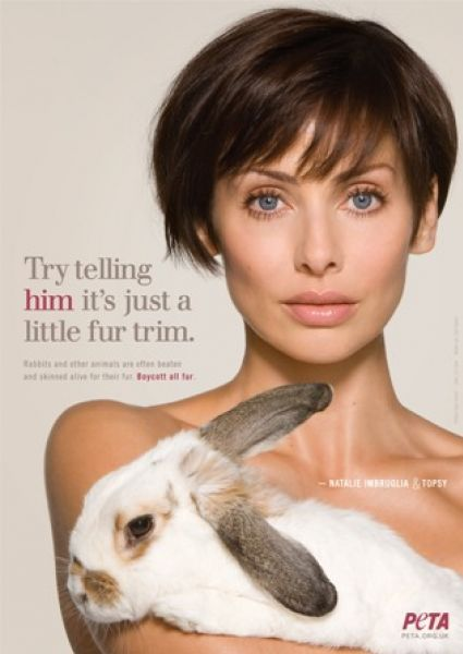 Натали Имбрулиа в рекламе PETA