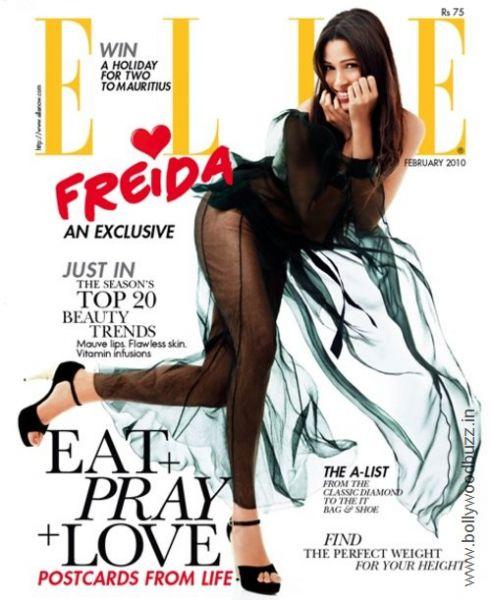 Фрида Пинто в журнале Elle. Индия. Февраль 2010