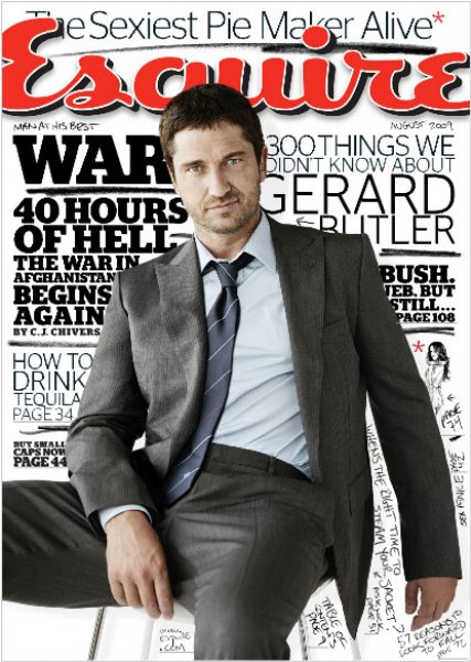 Джерард Батлер в журнале Esquire. Август 2009