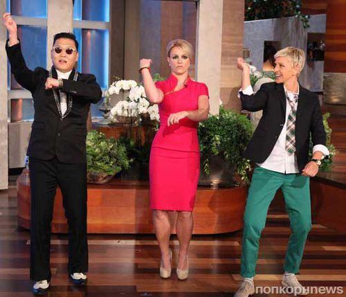 Бритни Спирс на шоу Эллен научили танцевать