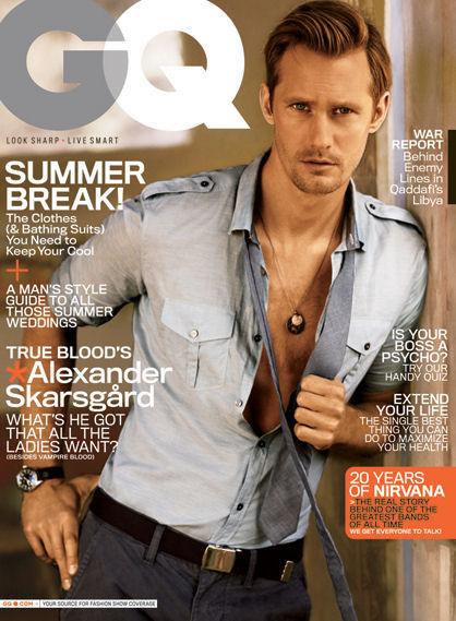 Александр Скарсгард в журнале GQ. Июнь 2011