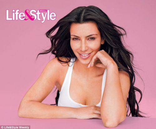 Ким Кардашиан без макияжа для журнала Life and Style