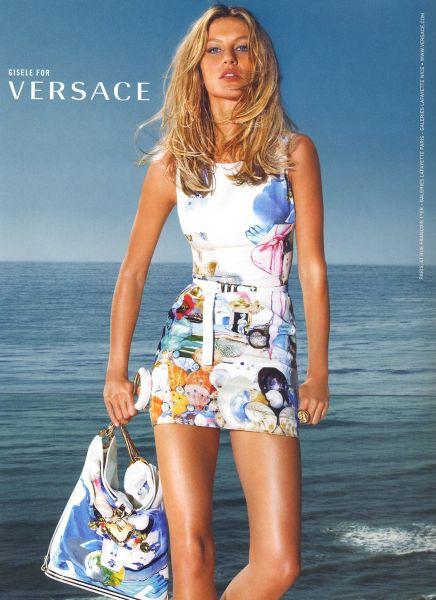 Жизель Бундхен для рекламы Versace весна / лето 2009
