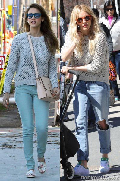 Fashion battle: Джессика Альба и Сиенна Миллер