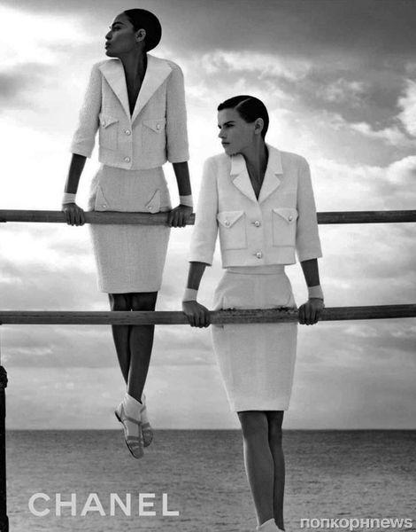 Первый взгляд на рекламные кампании женской коллекции Chanel и мужской коллекции Docle & Gabbana. Весна 2012