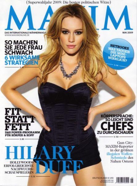 Хилари Дафф в журнале Maxim Германия. Май  2009