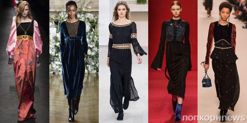 Фото обзор: модные платья осень-зима 2017-2018