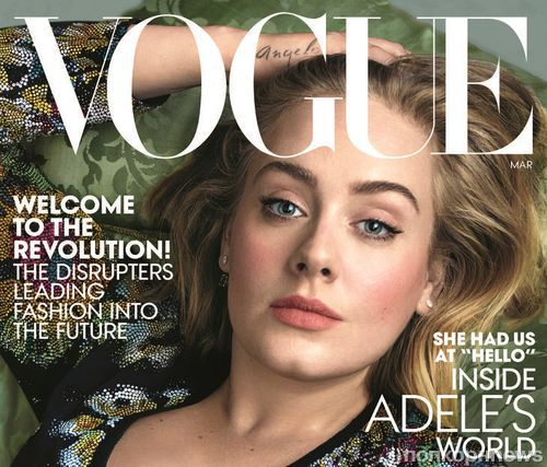 Адель украсила обложку американского Vogue (март 2016)