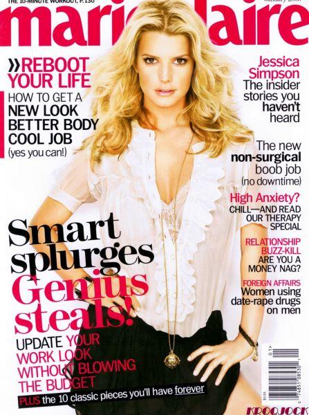 Джессика Симпсон в журнале Marie Claire. Январь 2009