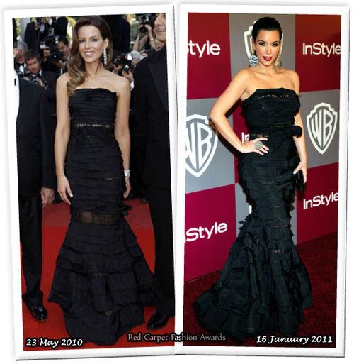 Fashion Battle: Кейт Бекинсэйл и Ким Кардашиан