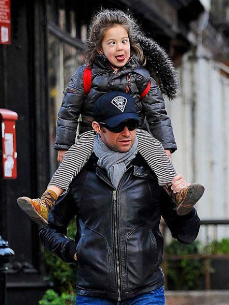 Хью Джекман со своей дочкой Авой