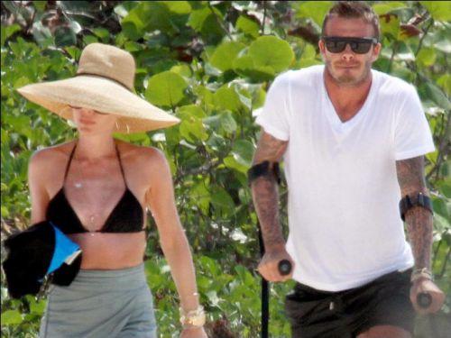 Дэвид и Виктория Бэкхем отдыхают на Карибах