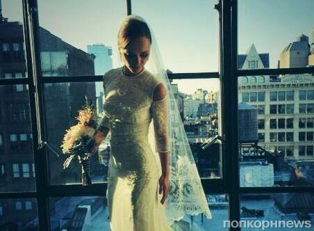 Кристина Риччи показала свадебное платье