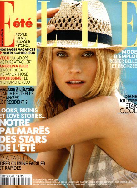 Дайан Крюгер в журнале ELLE. Франция. Август 2009