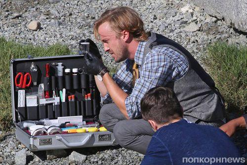 Первые фото: Том Фелтон на съемках 3 сезона «Флэша»