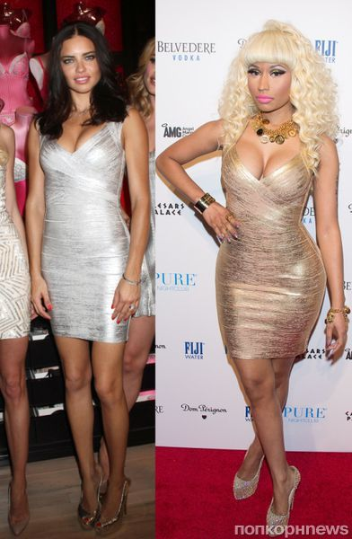 Fashion battle: Адриана Лима и Ники Минаж