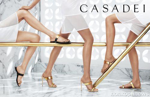Рекламная кампания обуви Casadei. Весна / Лето 2014