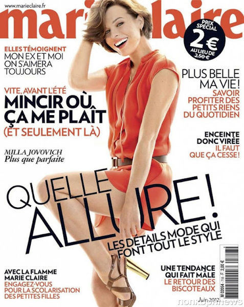 Милла Йовович в журнале Marie Claire Франция. Июнь 2012