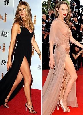 Дженнифер Энистон украла стиль Анджелины Джоли?