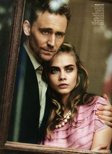 Том Хиддлстон и Кара Делевинь в журнале Vogue. Май 2013