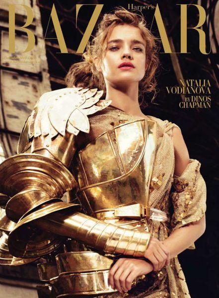 Наталья Водянова для журнала Harper's Bazaar UK. Декабрь 2010