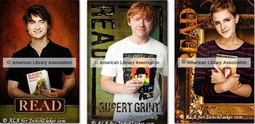Дэниел Рэдклифф, Руперт Гринт и Эмма Уотсон призывают молодежь читать