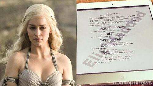 Актер «Игры престолов» «засветил» страницу сценария 6 сезона