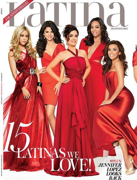 Латинские звезды на обложке журнала Latina. Октябрь 2011