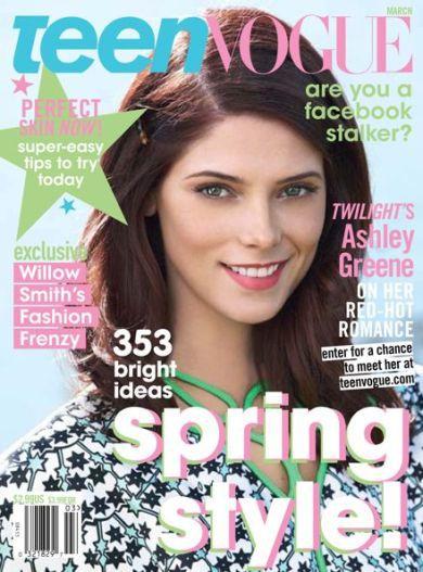 Эшли Грин в журнале Teen Vogue. Март 2011