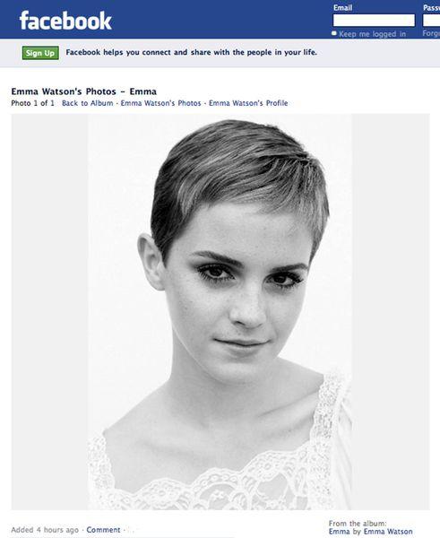 Благодаря новой стрижке Эмма Уотсон чувствует себя сексуальней