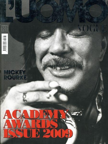 Микки Рурк в журнале Vogue L'Uomo. Февраль 2009