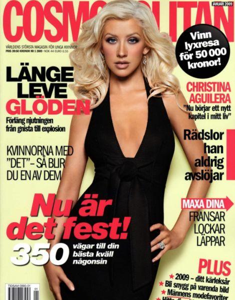 Кристина Агилера в журнале Cosmopolitan Швеция. Январь 2009