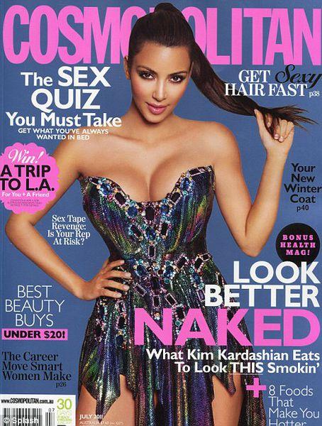 Ким Кардашиан в журнале Cosmopolitan Австралия. Июль 2011