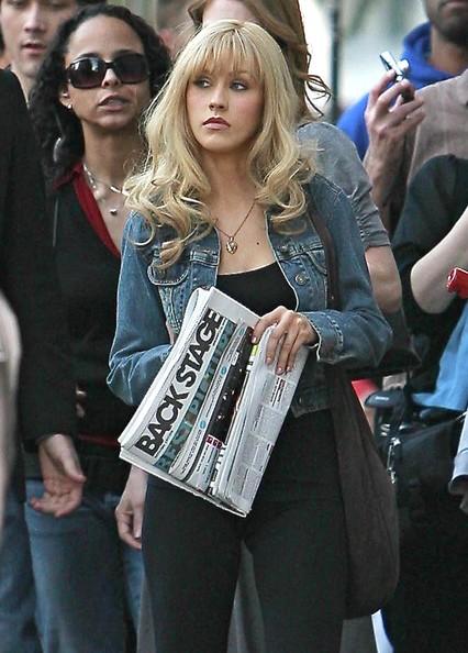 Кристина Агилера на съемках фильма