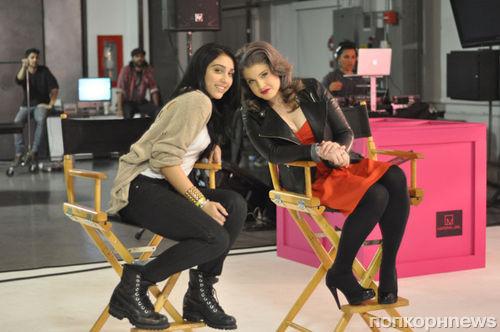 Келли Осборн и Лурдес Леон на съемках новой рекламной кампании Material Girl