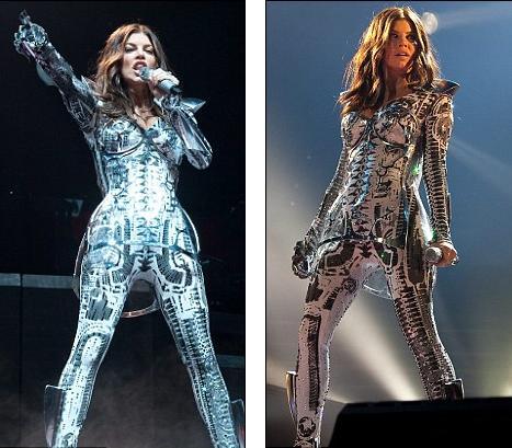 Футуристический наряд Ферги на концерте Black Eyed Peas