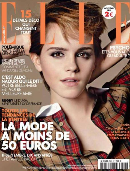Эмма Уотсон в журнале Elle.Франция. Сентябрь 2011