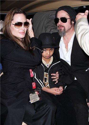 Брэд Питт и Анджелина Джоли вместе на суперкубке