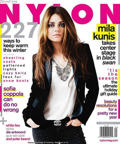 Мила Кунис в журнале Nylon. Декабрь 2010