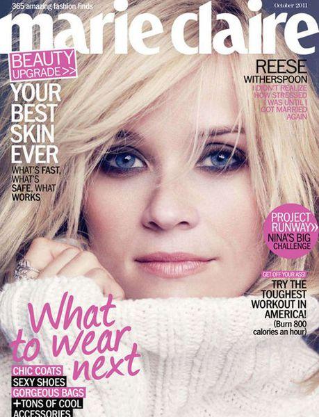 Риз Уизерспун в журнале Marie Claire. Октябрь 2011