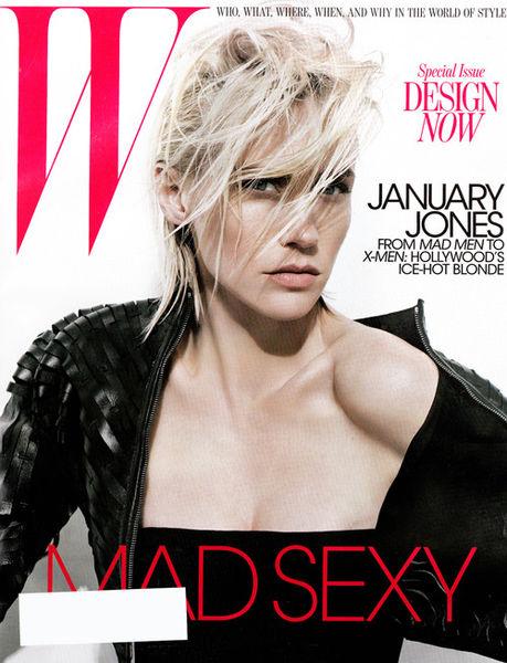 Дженьюэри Джонс в журнале W. Май 2011