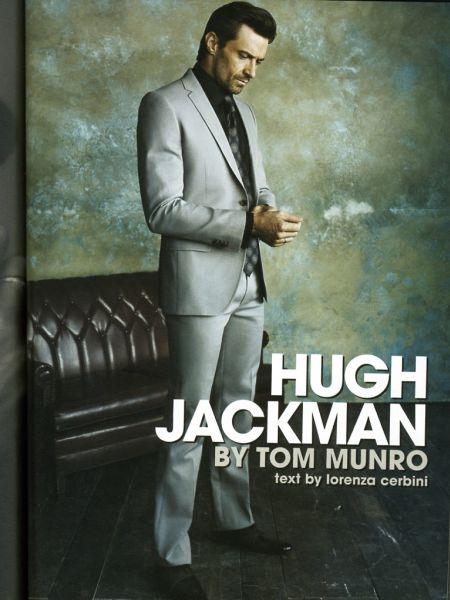 Хью Джекман в журнале Vogue L'Uomo. Февраль 2009