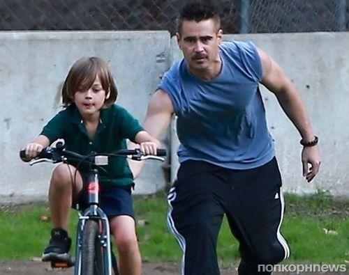 Редкие кадры: папарацци сфотографировали Колина Фаррелла с 8-летним сыном