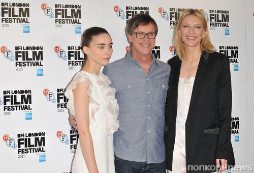 Руни Мара и Кейт Бланшетт на премьере фильма «Кэрол» в Лондоне
