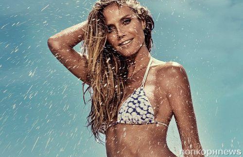 Хайди Клум демонстрирует потрясающую фигуру в рекламе купальников